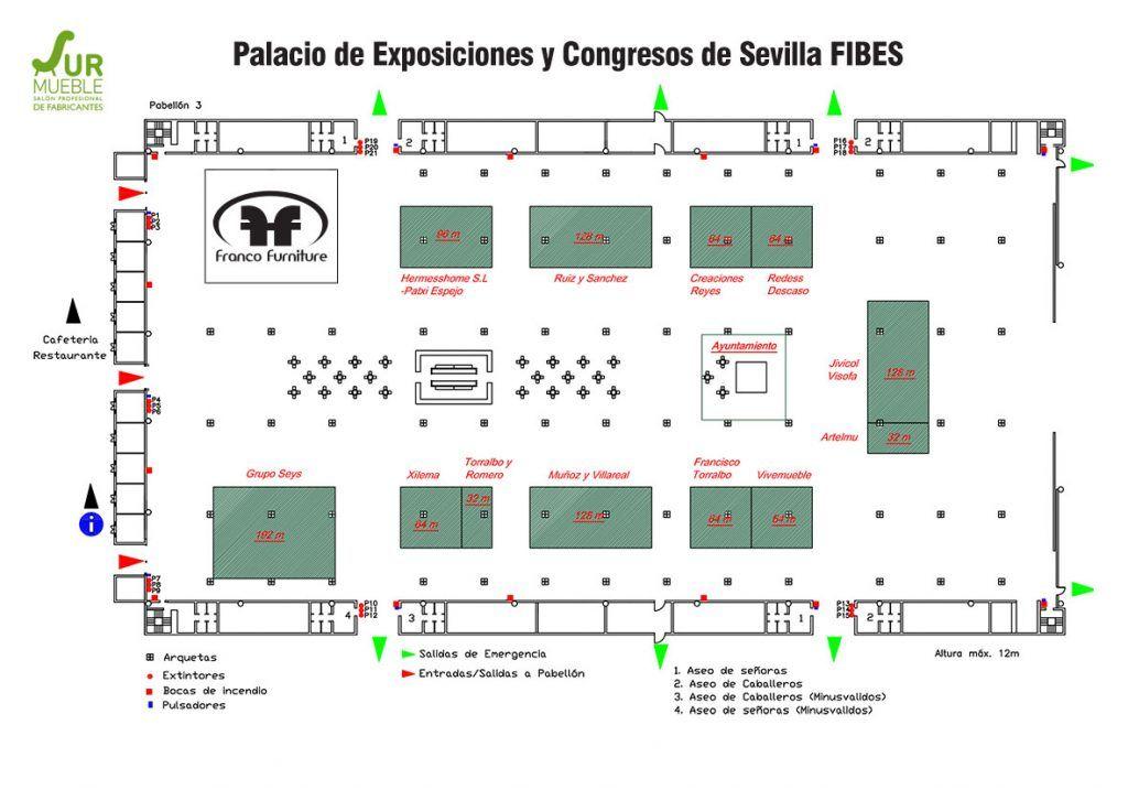 Plano Surmueble 2019 Fibes Sevilla